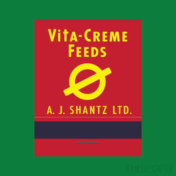 Vita-Creme Feeds Matchbook Cover