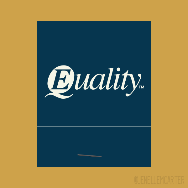 Equality Matchbook Cover