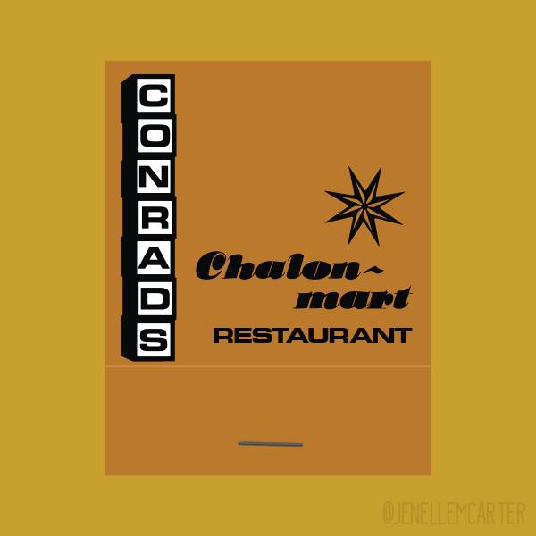 Conrads Chalon-mart Restaurant Matchbook Cover