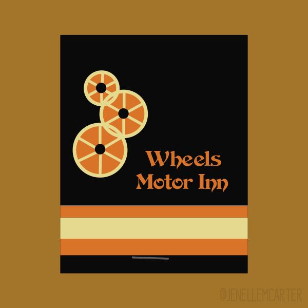 Wheels Motor Inn Matchbook Cover