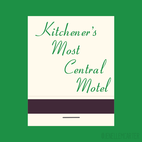 Kitchener's Most Central Motel Matchbook Cover