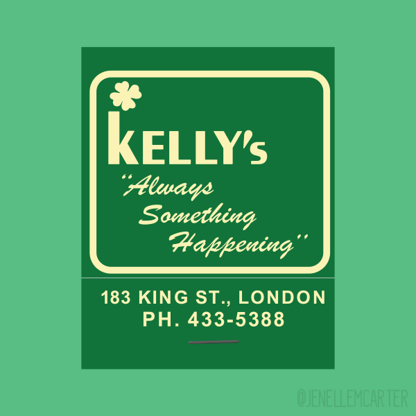 Kelly's Matchbook Cover