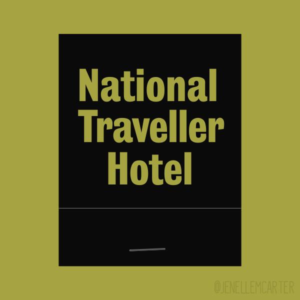 National Traveller Hotel Matchbook Cover