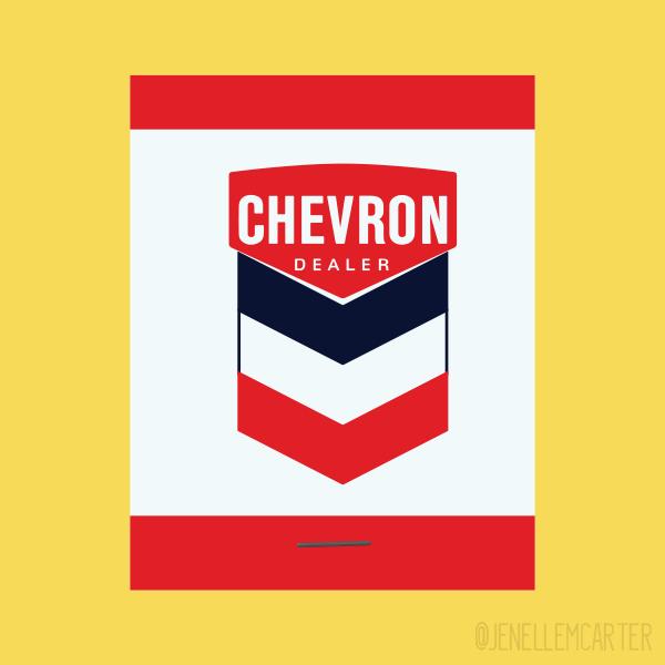 Chevron Dealer Matchbook Cover
