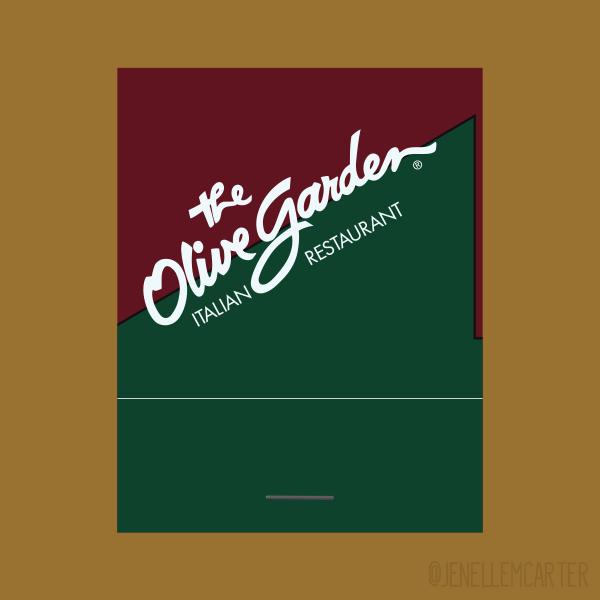 The Olive Garden Italian Restaurant Matchbook Cover