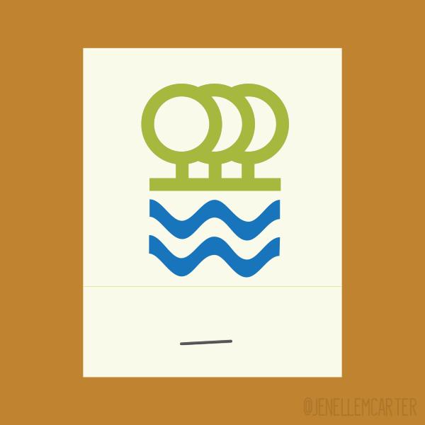 The Waterlot Restaurant Matchbook Cover