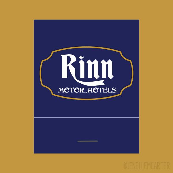 Rinn Motor Hotels Matchbook Cover