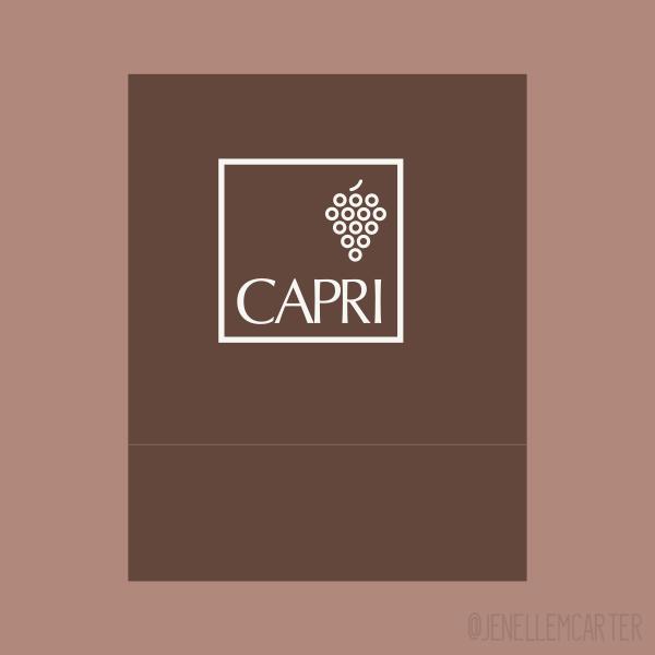 Capri Matchbook Cover