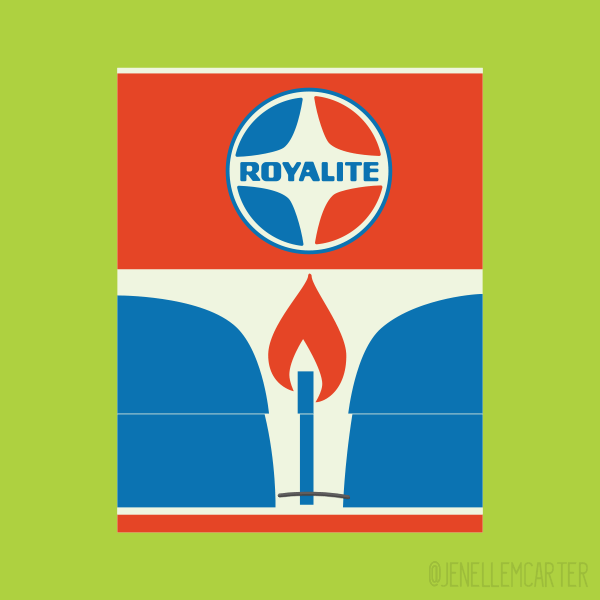 Royalite Matchbook Cover