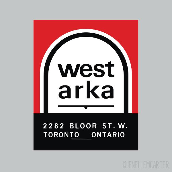 West Arka Matchbook Cover