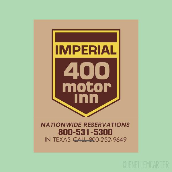 Imperial Motor Inn Matchbook Cover