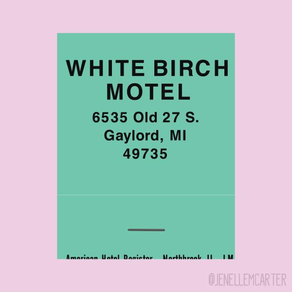 White Birch Motel Matchbook Cover