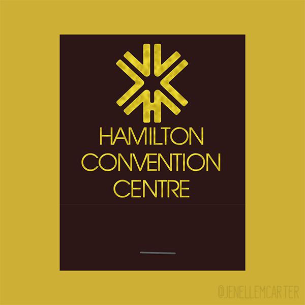 Hamilton Convention Centre Matchbook Cover