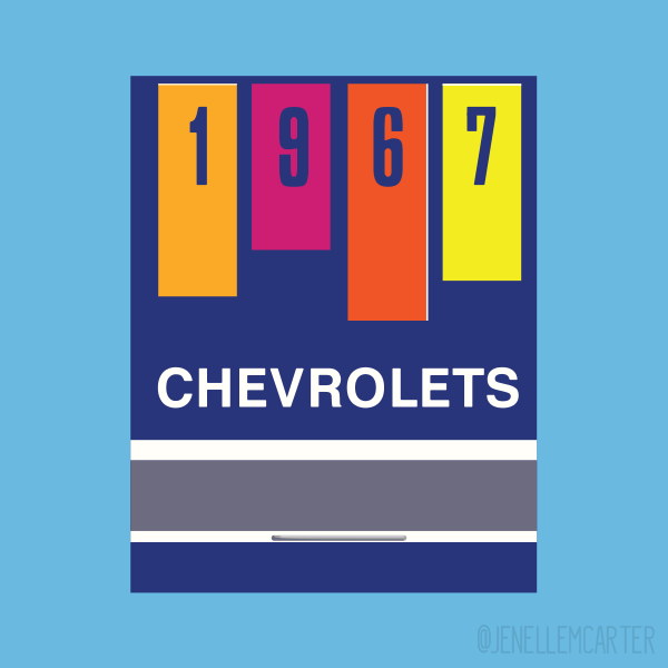 1967 Chevrolets Matchbook Cover