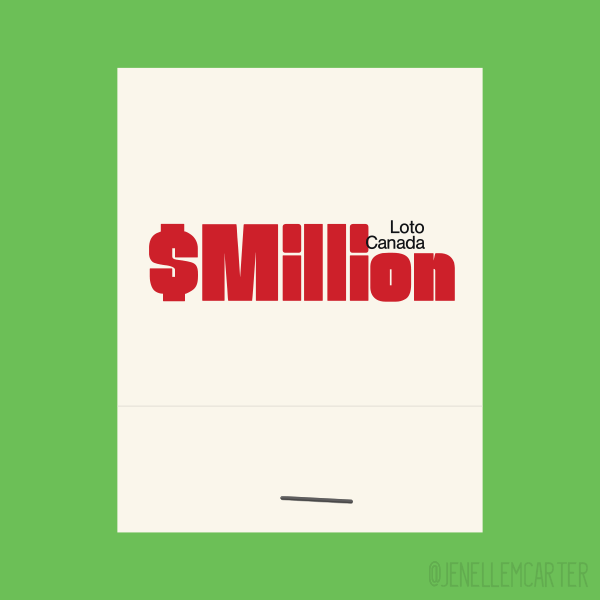 Million Loto Canada Matchbook Cover
