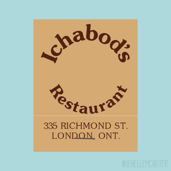 Ichabod's Restaurant Matchbook Cover