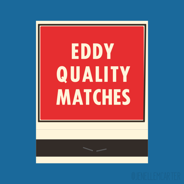 Eddy Quality Matches Matchbook Cover