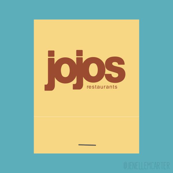 Jojos Restaurant Matchbook Cover