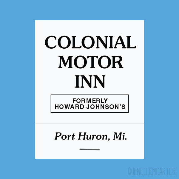 Colonial Motor Inn Matchbook Cover